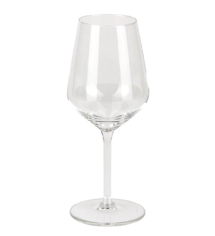 Verre à vin 35 cl., verre fin et à pied court, 6 pièces