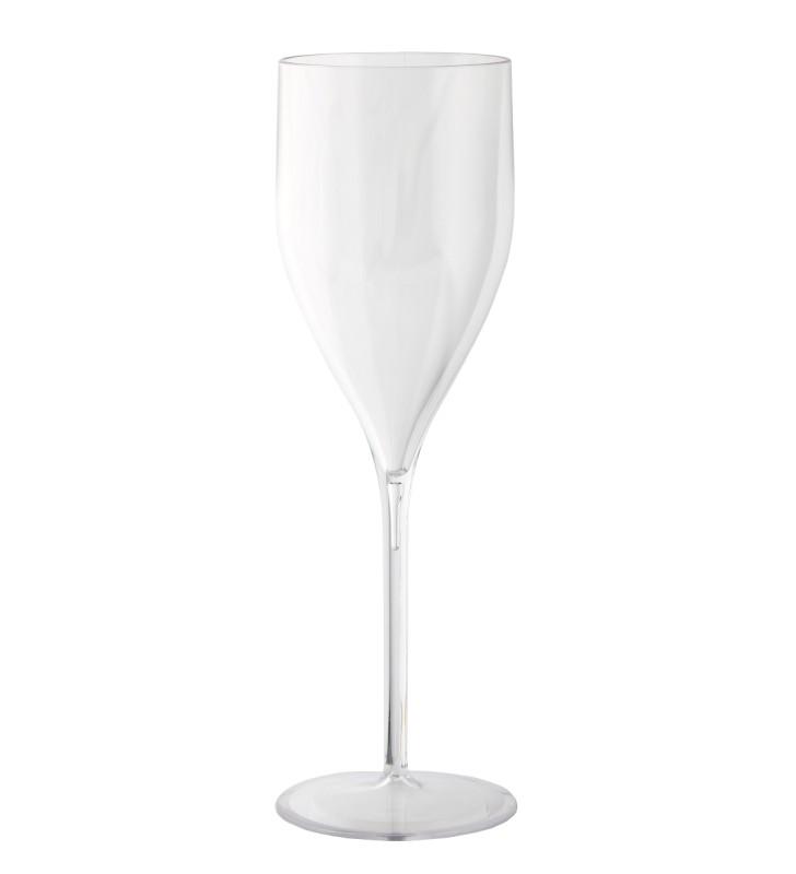 Flûte à champagne en plastique réutilisables 18 Cl, transparent, 6 pièces