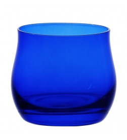 Olive oil glasses, cobalt blue