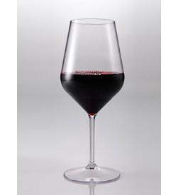 Verres à vin en Tritan plastique réutilisables 47 Cl, transparent, 6 pièces