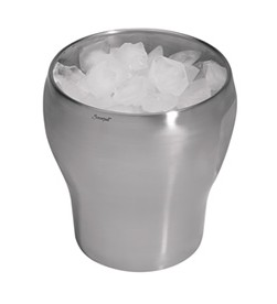 Screwpull Champagne Bucket, 1 Bottle, Stainless Steel