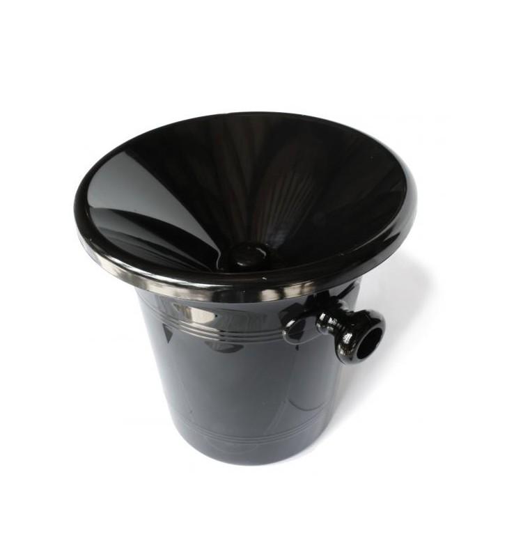 Crachoir à vin de sommelier, 2,5 litre, noir acrylique