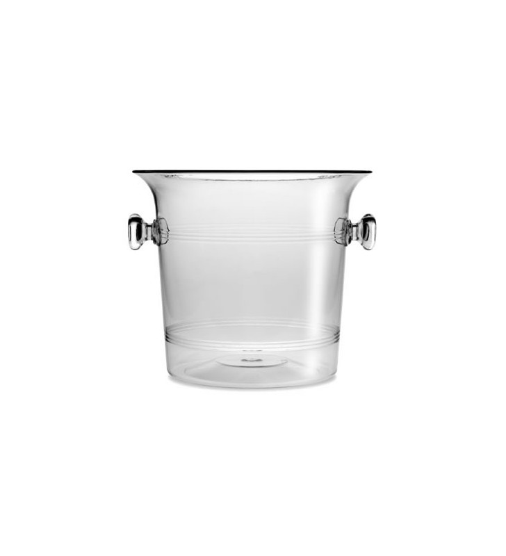 Plastic Ice Bucket, 2/3 Bottles, Clear