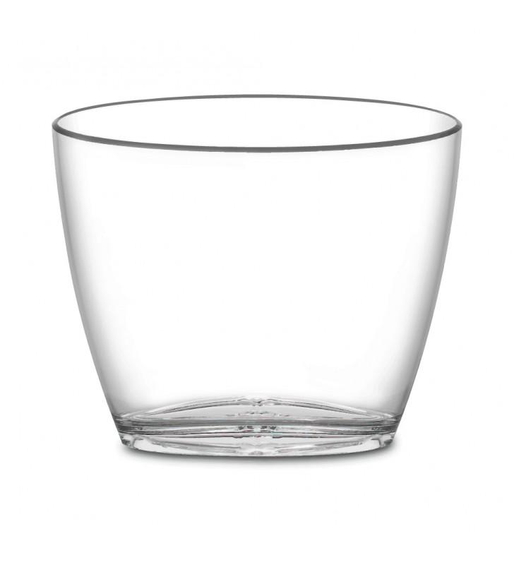 Secchiello in plexiglas trasparente da 3 bottiglie