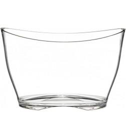 Seau à champagne en plexiglas transparent, 5 à 6 bouteilles