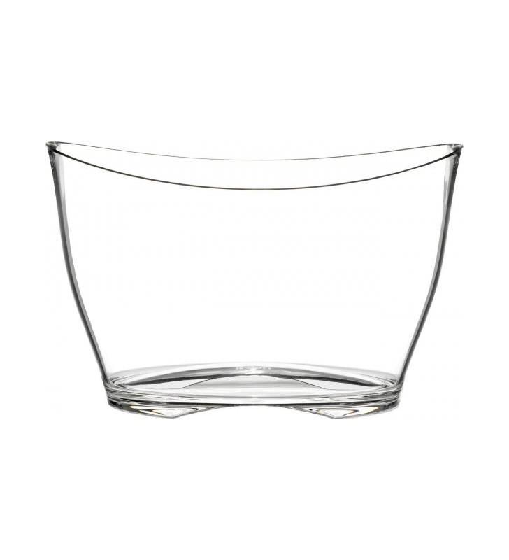 Spumantiera in plexiglas per 5-6 bottiglie, trasparente