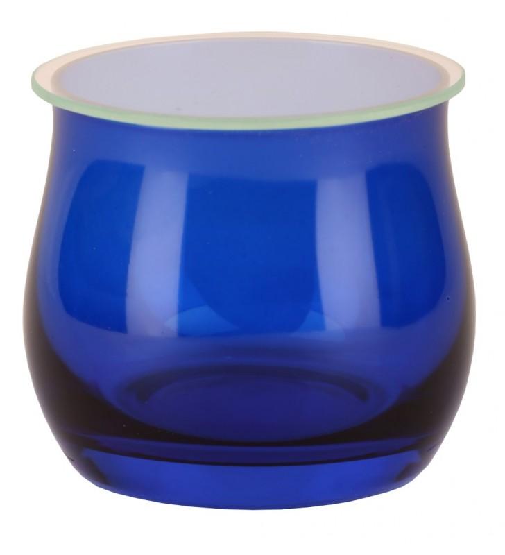 Bicchiere assaggia olio blu cobalto, con coperchio non incluso