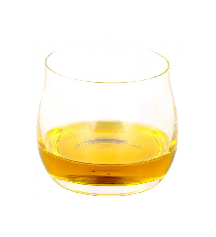 Bicchiere assaggia olio trasparente, per olio di oliva