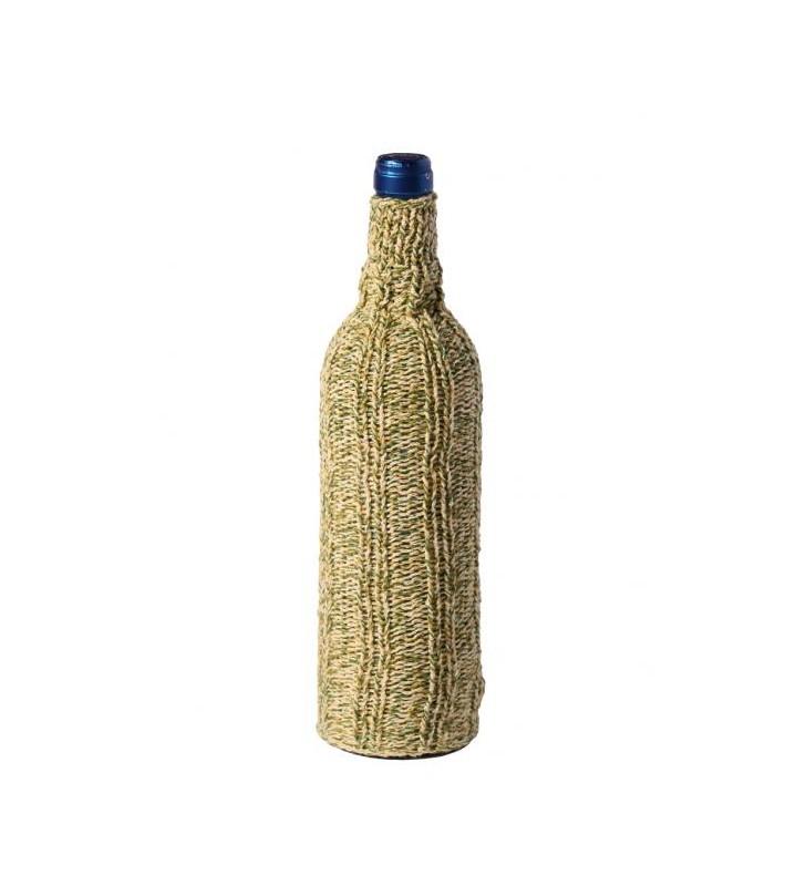 Blind Wine Tasting Bottle Sleeves, handmade, green