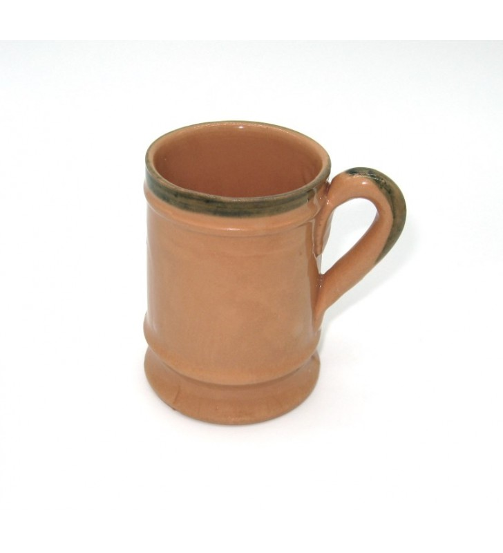 Boccale birra terracotta medievale