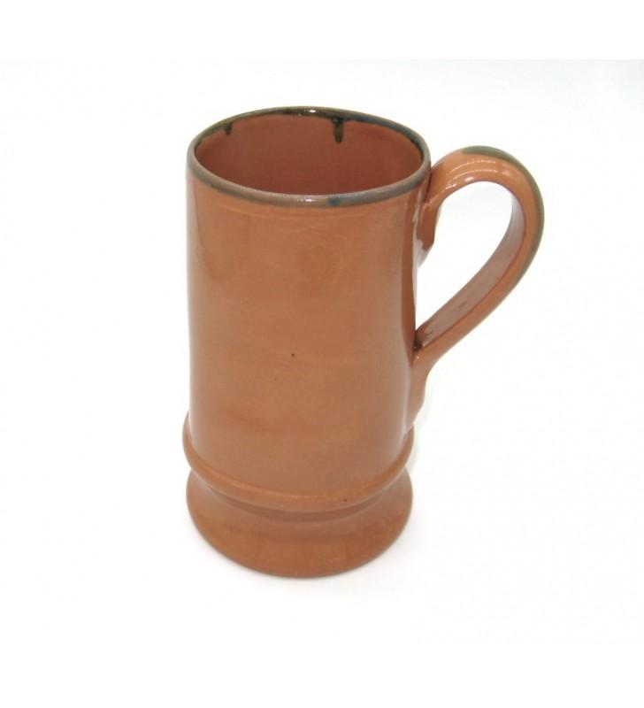 Boccale birra terracotta cl. 65, medievale