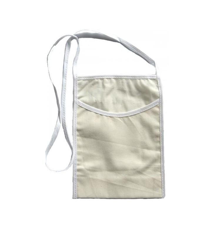Beige cotton small glass holder