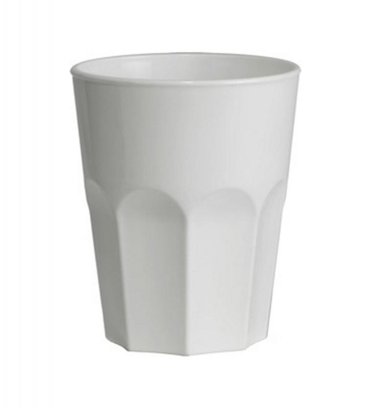 Break resistant white plastic tumbler cl. 29