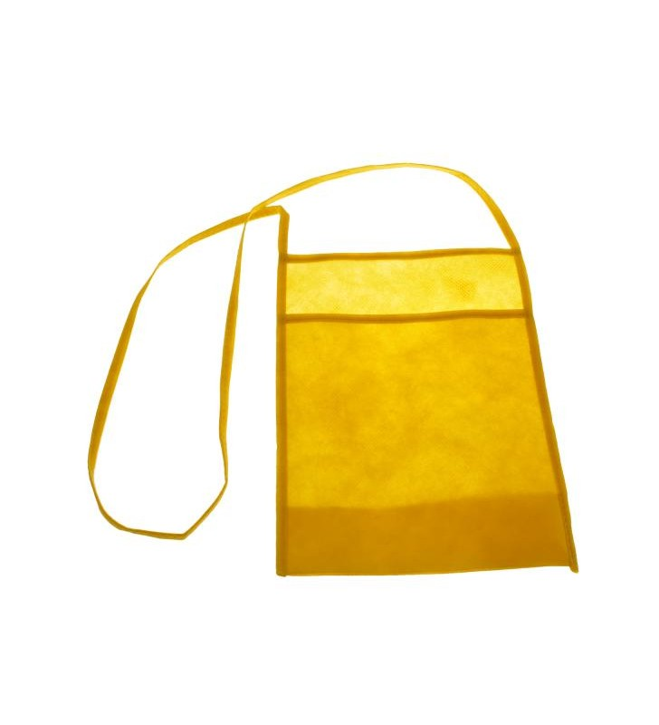 Yellow glass holder for tasting