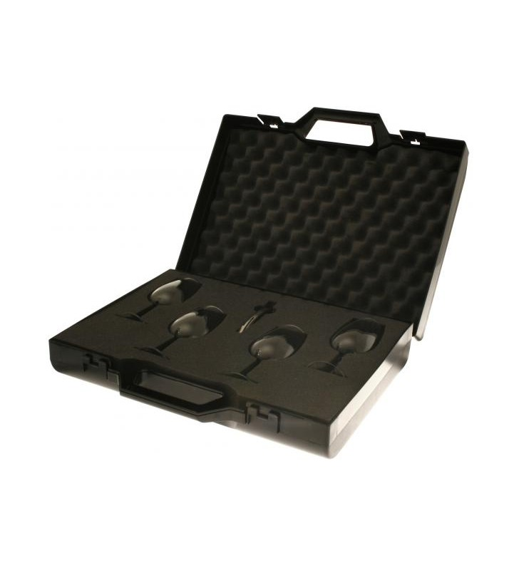 Valise INAO pour la dégustation, 1 valise, 4 verres inao, 1 tire-bouchon