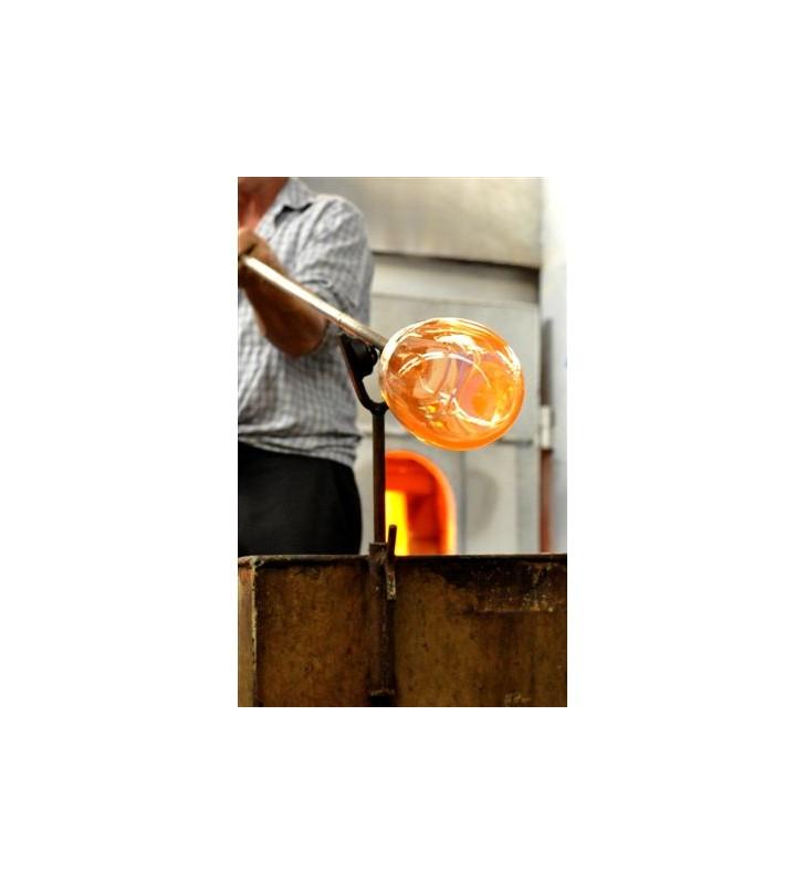 Bicchiere assaggia olio blu vetro soffiato, standard COI, lavorazione artigianale