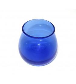 Bicchiere assaggia olio blu vetro soffiato, standard COI
