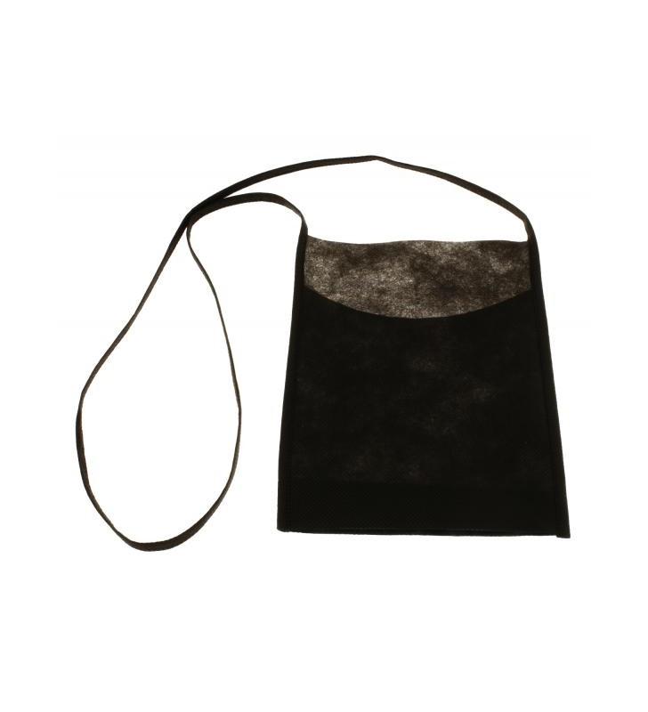 Sacs porte-verres INAO en tissus non tissé noire, neutre, 10 pièces