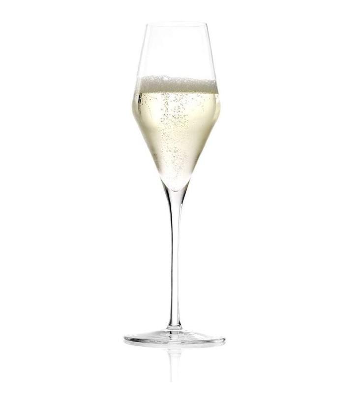 Flûte à champagne, Quatrophil  29 cl, Cristal, Stolzle, 6 pièces