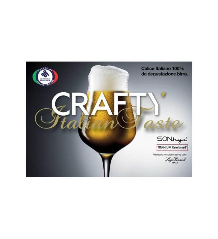 Verres à bière Crafty 42 Cl, Vdglass - Luigi Bormioli, Cristal, 6 pièces
