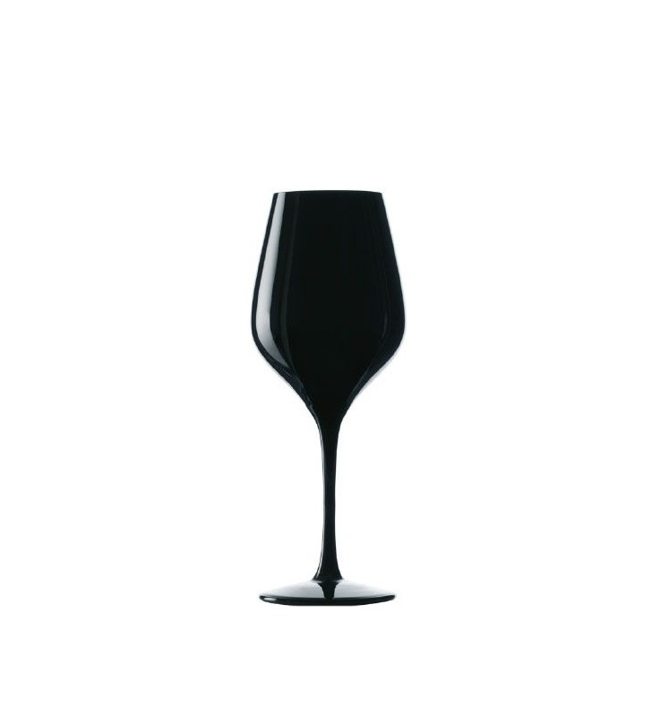 Stolzle Exquisit Blind Tasting Glasses black 35 cl, crystal, Set of 6