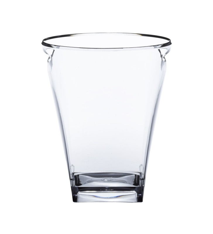 Glacette quadra in plexiglas, trasparente da 1 bottiglie