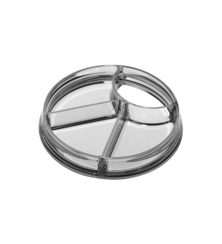 Quadra transparent, snack tray