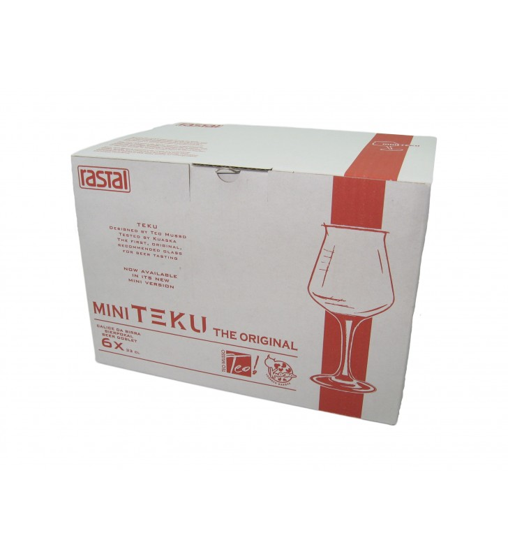 Verres à  bière 33 cl mini Teku Rastal, 6 pièces