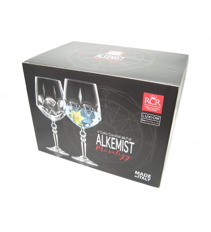 RCR  Alkemist Calici cocktail cl. 67, cristallo
