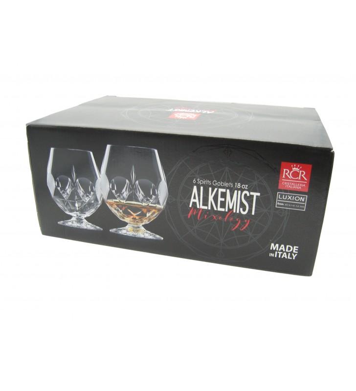 Verres à Whisky et spiritueux  53 cl, Alkemist RCR, Cristal, 6 pièces