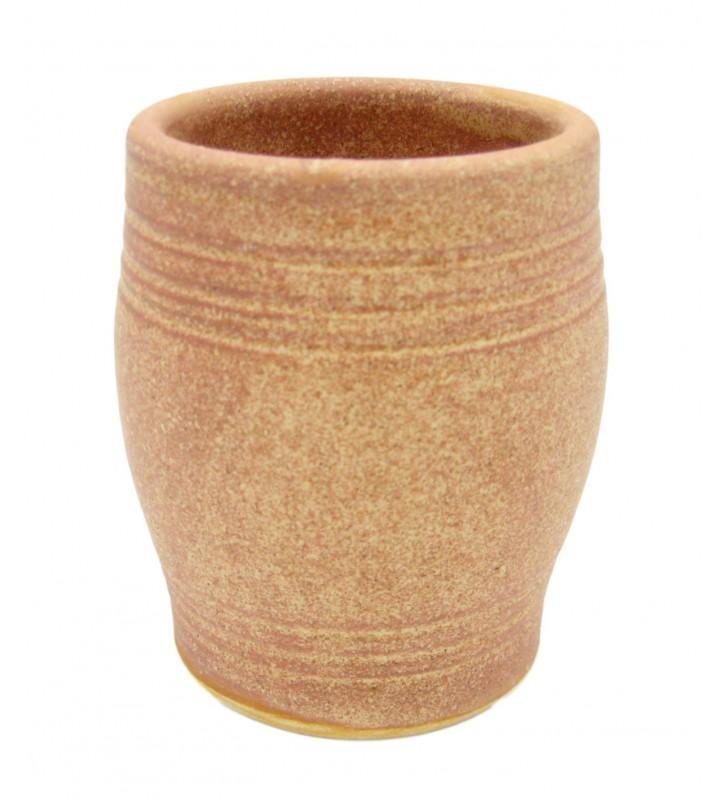 Verre à vin en terre cuite 25 Cl, artisanal, 2 pièces