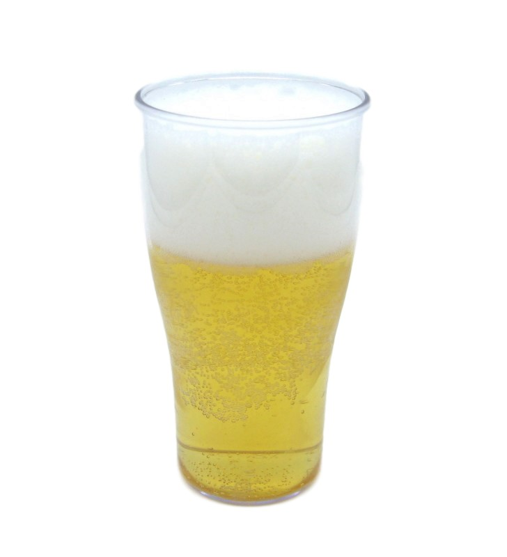 Break resistant plastic beer glass cl. 35