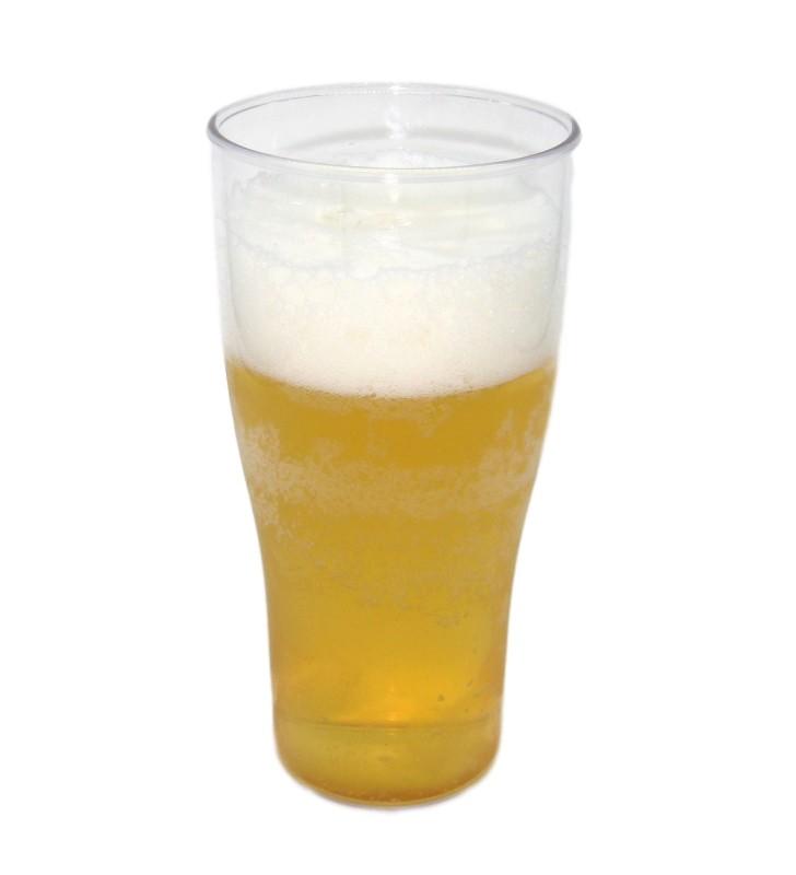 Break resistant plastic beer glass cl. 52