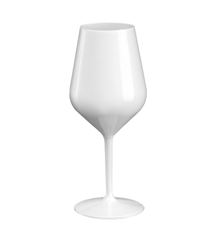 White Tritan cocktail plastic glasses