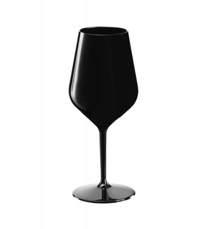 Black Tritan cocktail plastic glasses cl. 47, set of 6