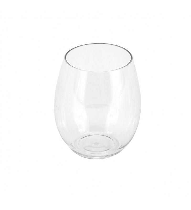 Plastic glasses tritan water, wine, cocktail cl. 39, transparent