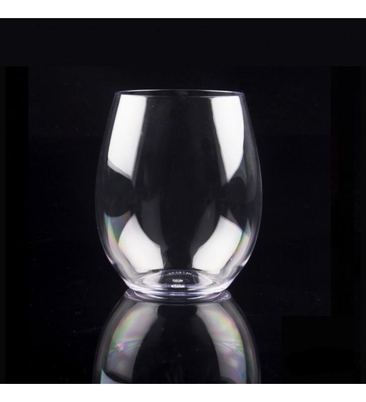 Verres à eau en Tritan plastique réutilisables 39 Cl, transparent, 6 pièces