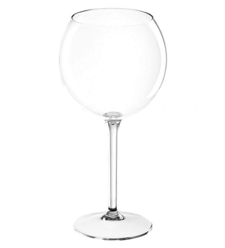 Bicchieri ballon plastica tritan, cl. 65, per vino rosso, trasparente