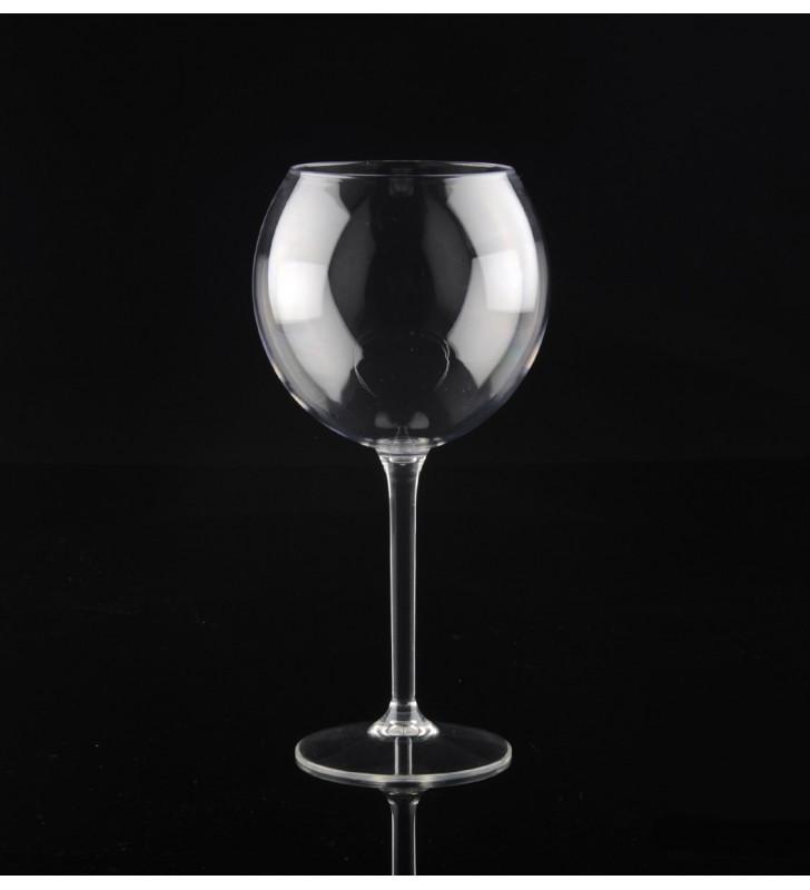 Verres à vin Ballon en Tritan plastique réutilisables 65 Cl, transparent, 6 pièces