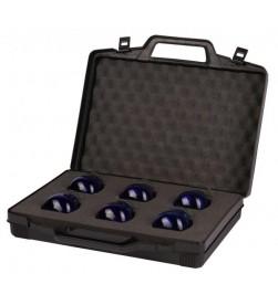 Valigia porta bicchieri assaggia olio blu, bicchieri esclusi