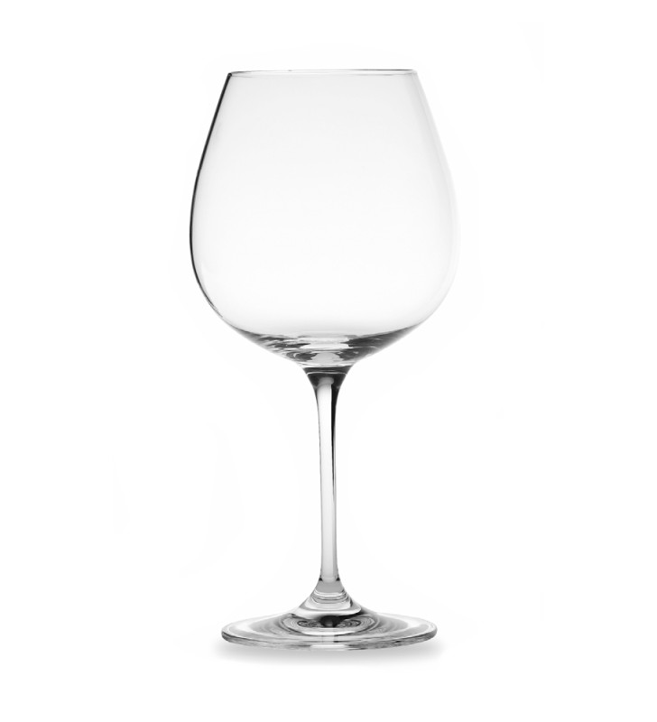 Burgundy wine tasting glass, crystalline cl. 70,  gift box