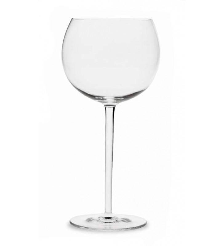 Verres à vin rouge 39 cl, Cristal soufflé à la bouche, 4 pièces