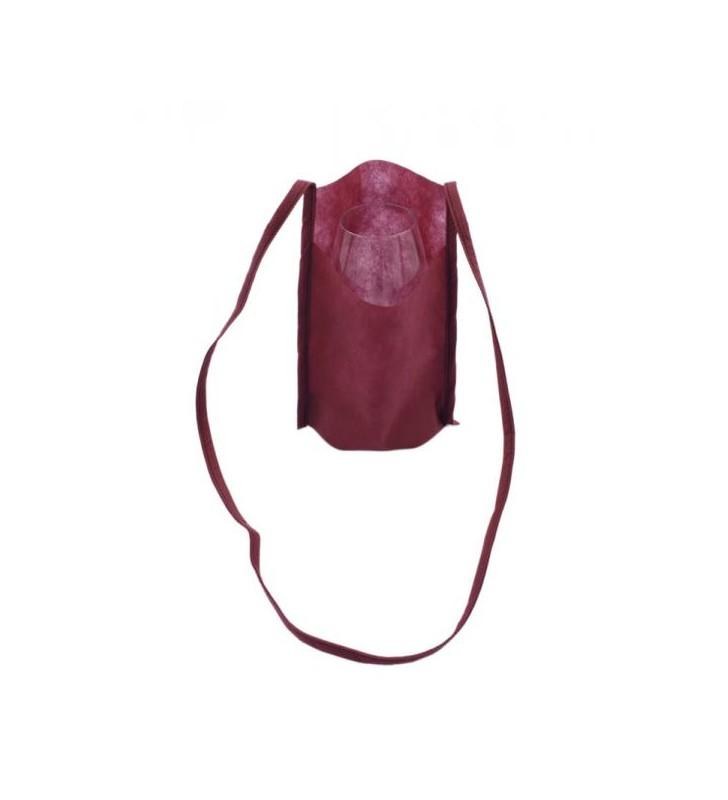 sacchetta portacalici vinaccia con calice