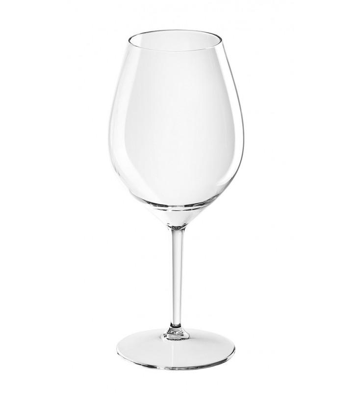 Verres à vin rouge en Tritan plastique réutilisables 51 Cl, transparent, 2 pièces