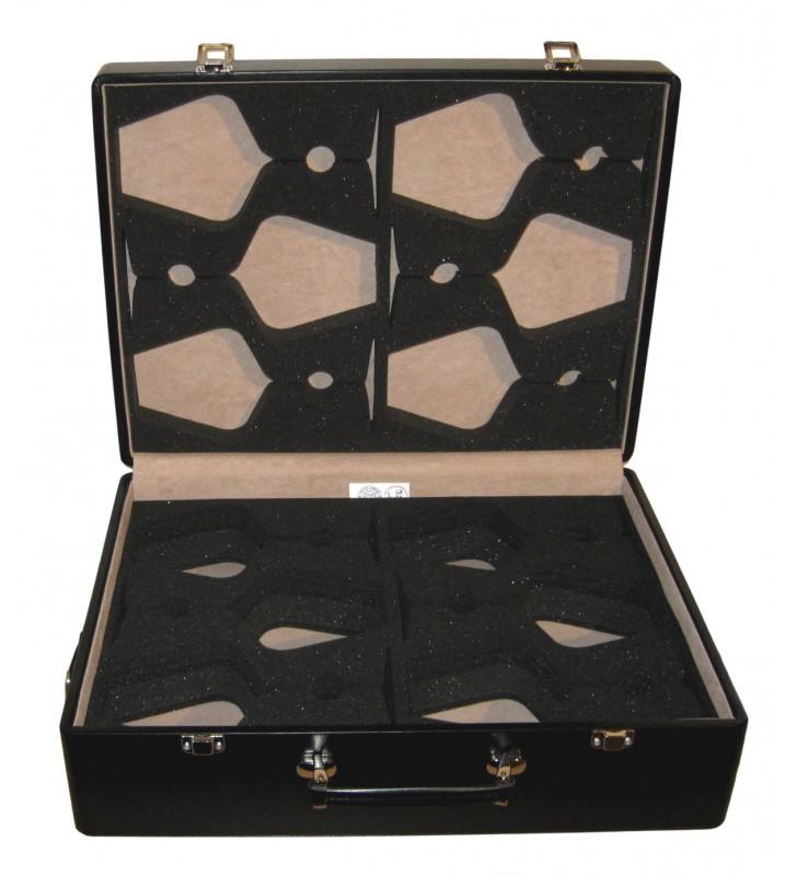 Valigetta rigida in eco pelle per 6 Calici Zalto Borgogna - aperta