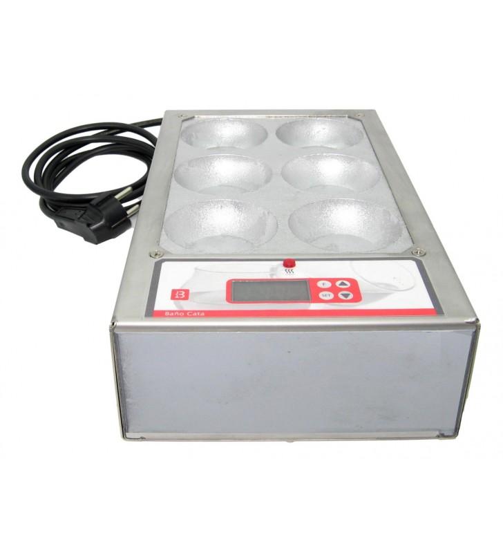 Oil warmer for 6 oil tasting glasses COI for panel testing
