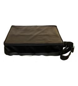 Valise de transport premium pour 4 verres à degustation, 1 tire-bouchon, en simili cuir noir