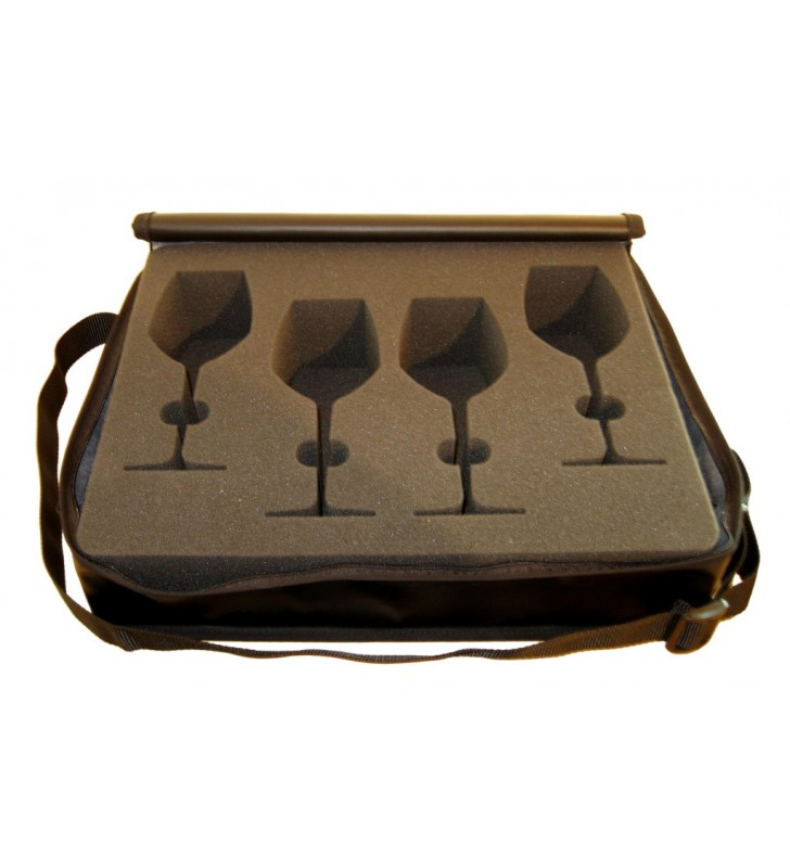 RCR, Riedel, Stolzle Wine Glasses eco-leather Carrying Case