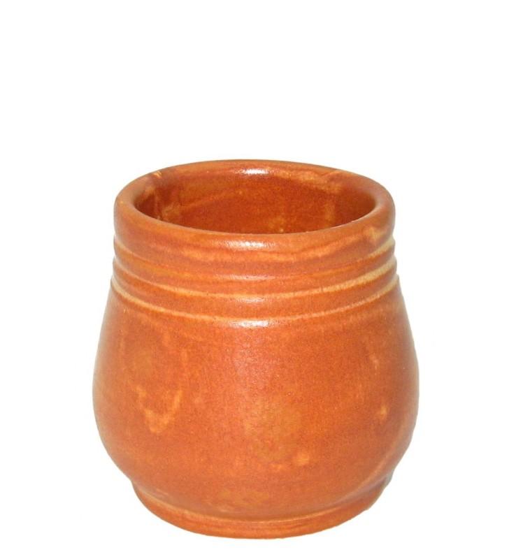 Shot terracotta cl. 16, Handmade, set of 2