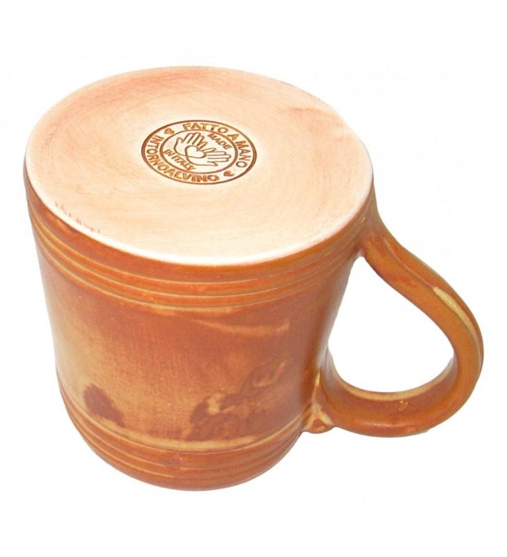 Boccale birra terracotta cuoio cl. 40, conf.  2 pz